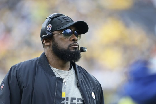 Latest Sports News: Mike Tomlin looks on from the sidelines during the Steelers' win over the Browns.