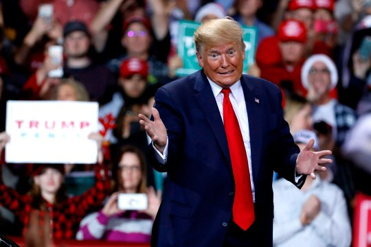 President Donald Trump at a Keep America Great Rally in Battle Creek, Michigan, on Dec. 18, 2019.