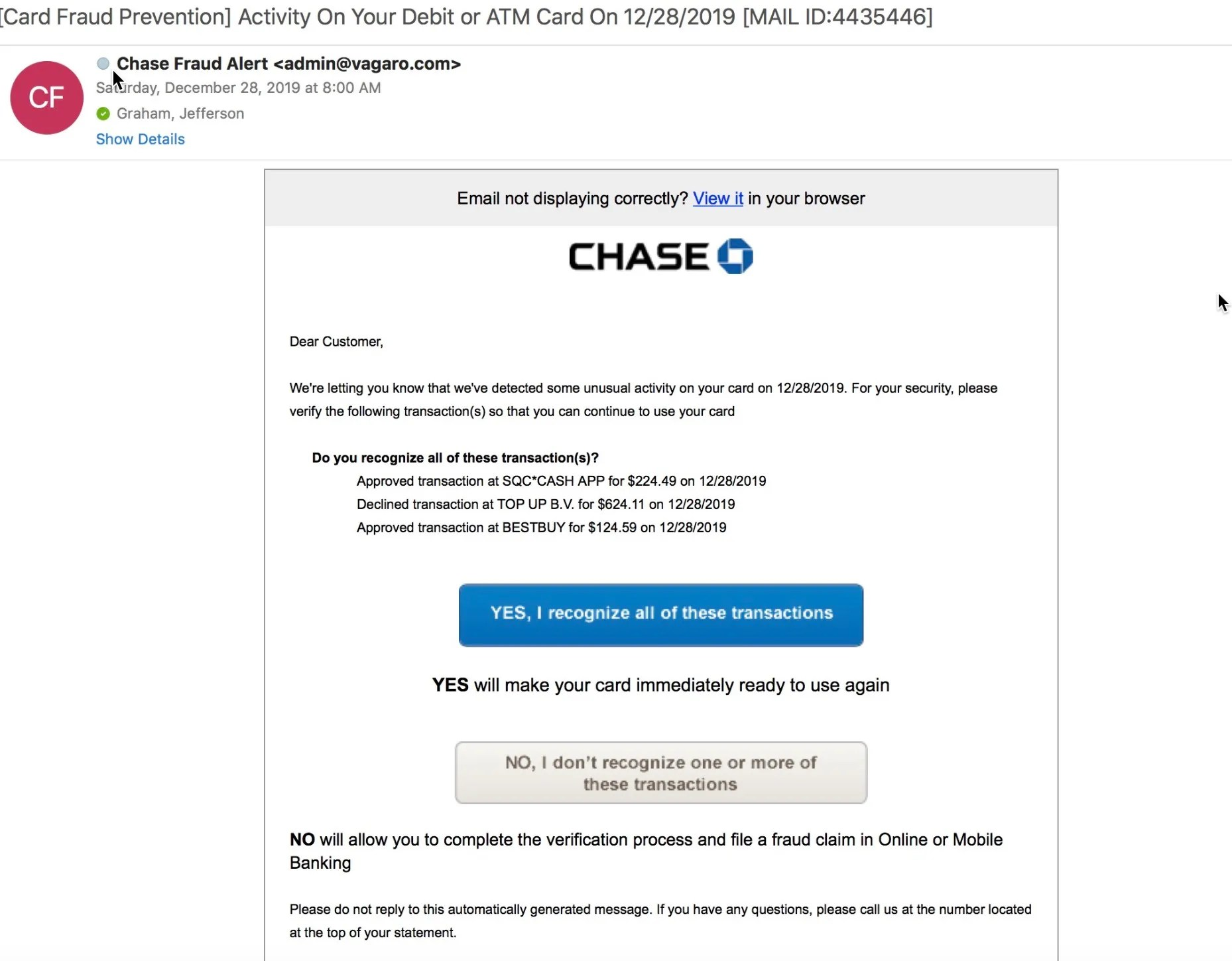Phishing Attempts Look Real But There S Always A Giveaway