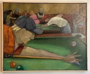 Nine Ball by Zanesville artist Paul Emory is on display in the Sarah Gormley Gallery in the Short North District of Columbus.