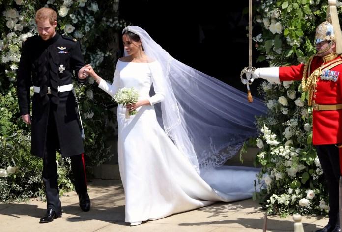 El príncipe Harry y la duquesa Meghan Markle se casan en 2018.