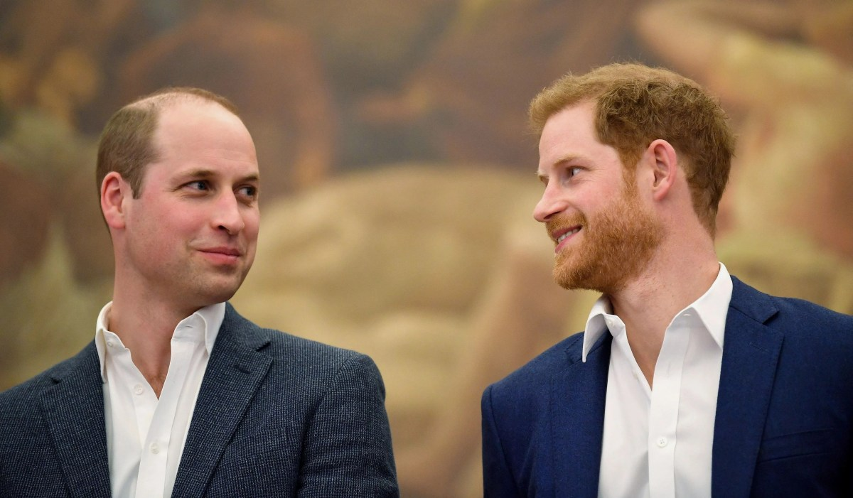 Prince William and Prince Harry in April 2018 at the opening of the Greenhouse Sports Center in London.