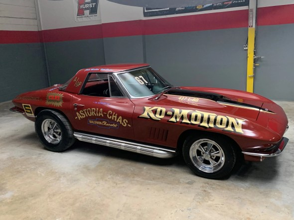 "This 1967 Corvette will be given away as one of the ""Lost Corvettes"" in a promotion by the Corvette Heroes to benefit the National Guard Educational Foundation."