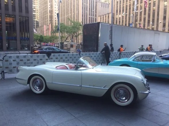 "This 1955 Corvette will be given away as one of the ""Lost Corvettes"" in a promotion by the Corvette Heroes to benefit the National Guard Educational Foundation."