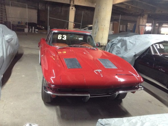 "This 1963 Corvette will be given away as one of the ""Lost Corvettes"" in a promotion by the Corvette Heroes to benefit the National Guard Educational Foundation."