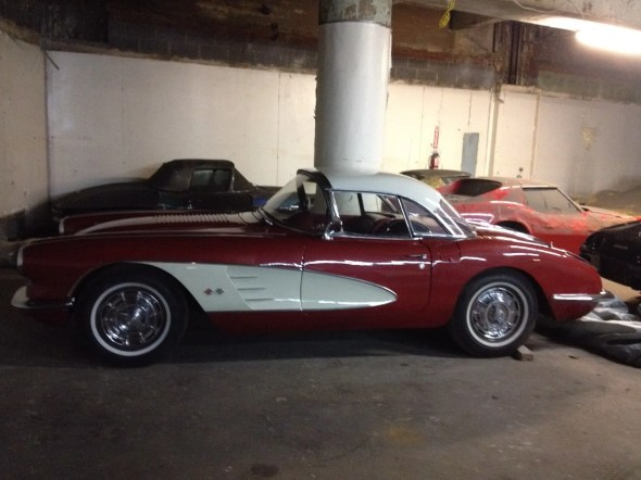 "This 1958 Corvette will be given away as one of the ""Lost Corvettes"" in a promotion by the Corvette Heroes to benefit the National Guard Educational Foundation."