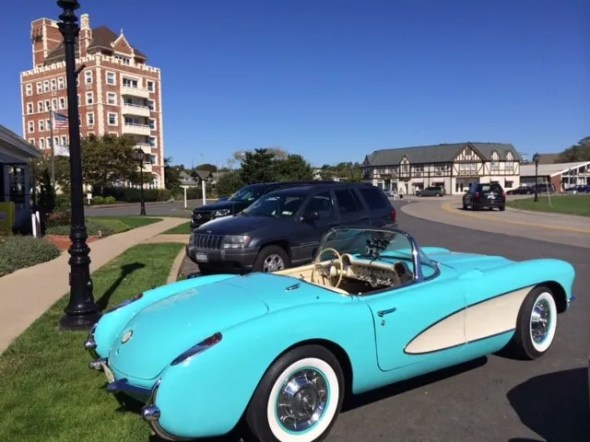 "This 1956 Corvette will be given away as one of the ""Lost Corvettes"" in a promotion by the Corvette Heroes to benefit the National Guard Educational Foundation."