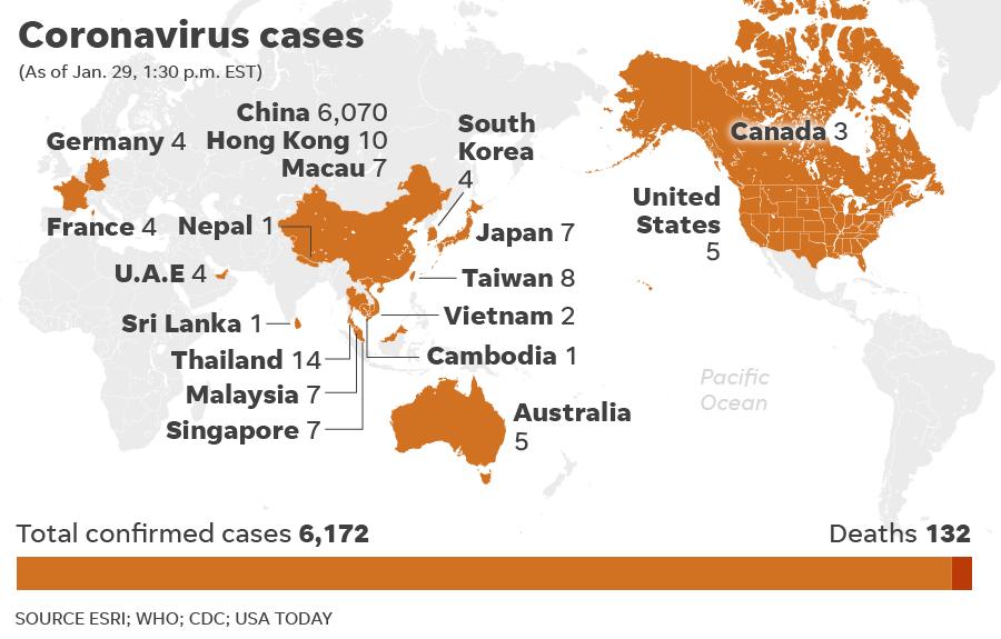 Corona Virus In Us Map Coronavirus Pandemic