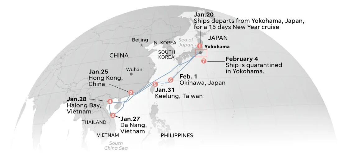 Coronavirus: Diamond Princess cruise ship quarantined with 135 cases.