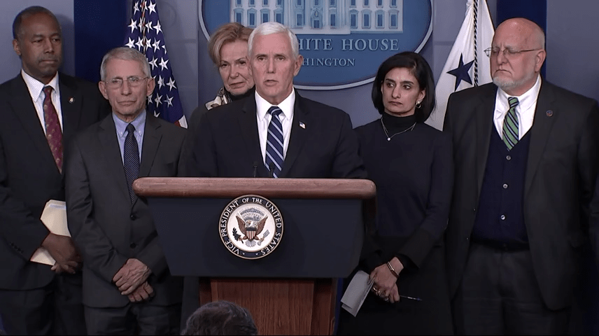 Coronavirus: Pence gives Washington State officials elbow bump