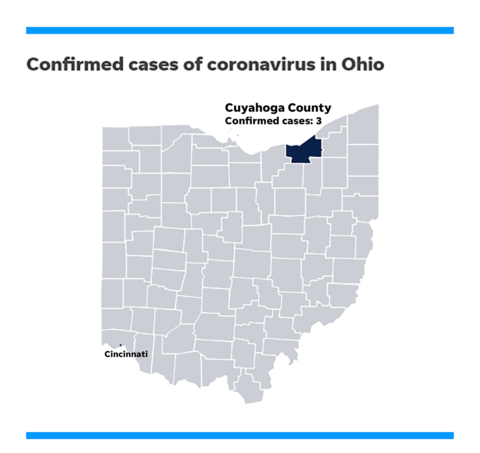 Where is the coronavirus in Ohio? How many cases are confirmed?