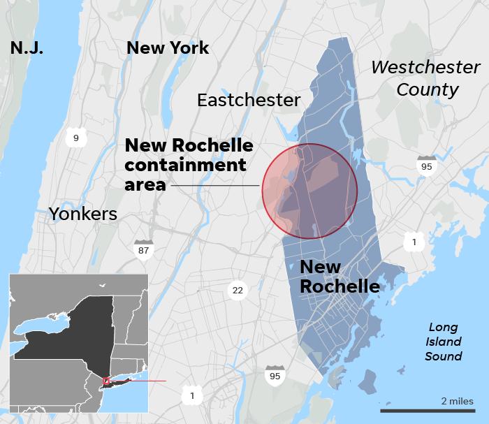 Coronavirus updates: New York containment area; 1,000 US cases