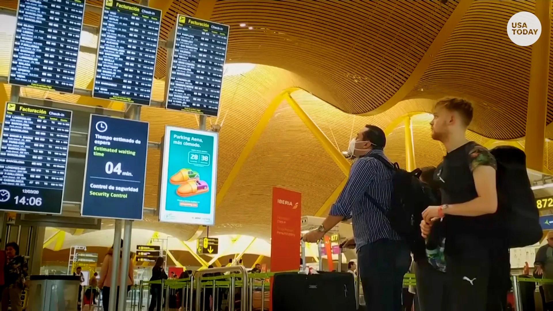 Coronavirus Trump travel ban: Travelers scramble; fare caps announced