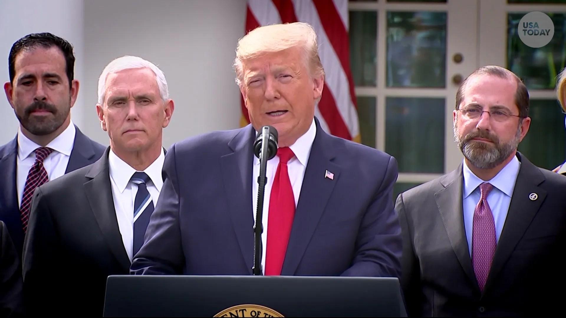 Coronavirus: Trump backs economic relief deal reached with Democrats