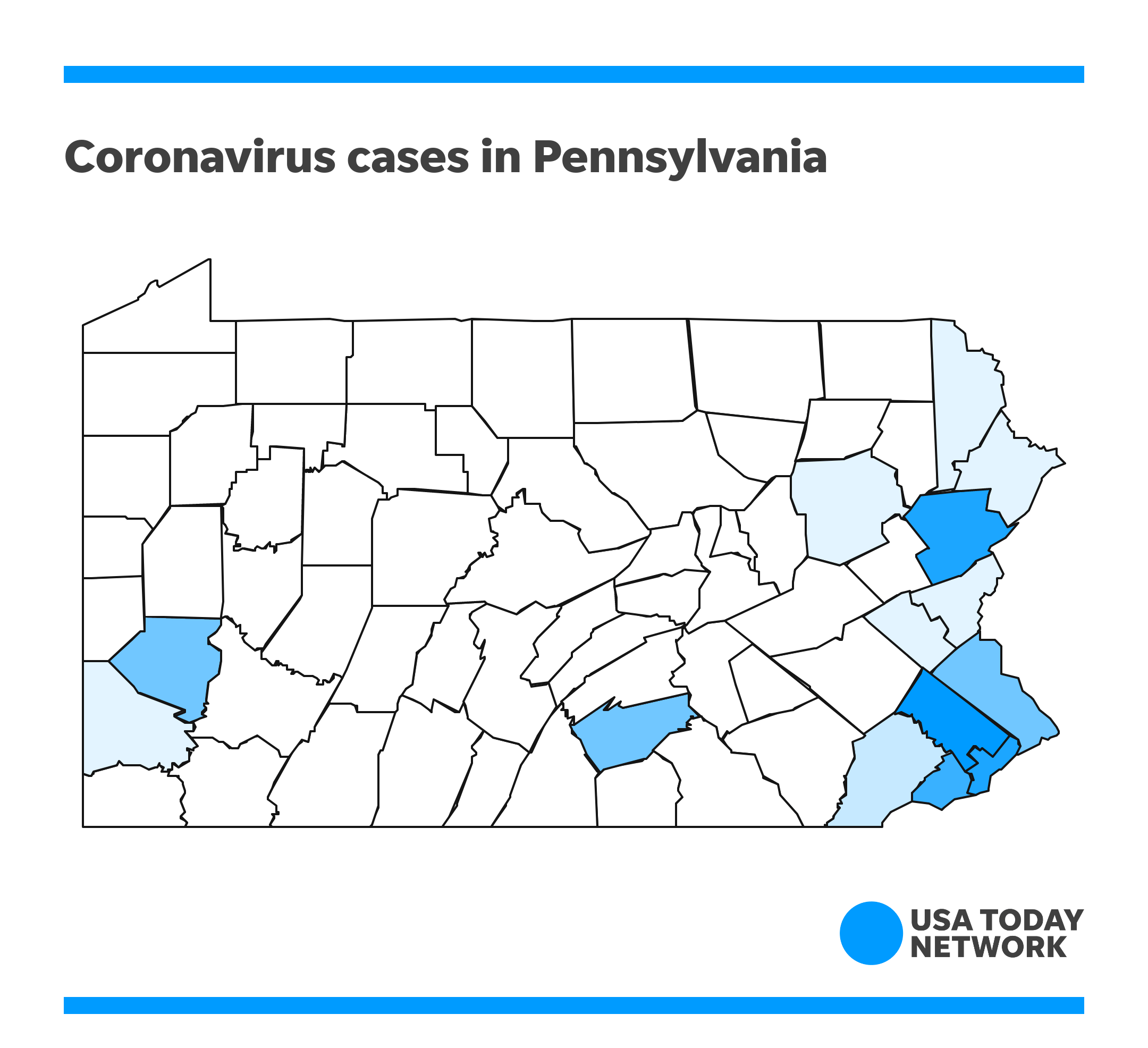 Coronavirus tracker: Pa. cases by county, how many over time