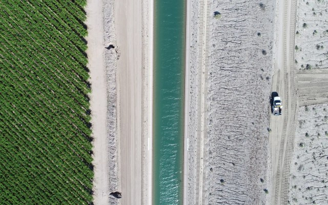 Agricultural fields in Coachella are photographed empty next to the All-American Canal on March 27, 2020. COVID-19 contingency has kept the area to limited traffic.