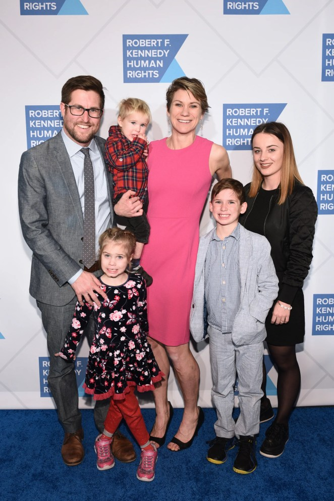 David McKean, Maeve Kennedy Townsend Mckean and family attend the Robert F. Kennedy Human Rights Hosts 2019 Ripple Of Hope Gala & Auction In NYC on December 12, 2019 in New York City.