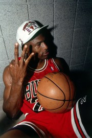 Michael Jordan celebrated the NBA Championship victory after the 1993 NBA Six Final Game on June 20, 1993, at the America West Arena in Phoenix, Arizona. It was seen during the ESPN documentary