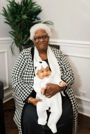 Rhoda Hatch holds her grand-niece, Sofia Hatch, in Chicago, Ill. in late 2019.