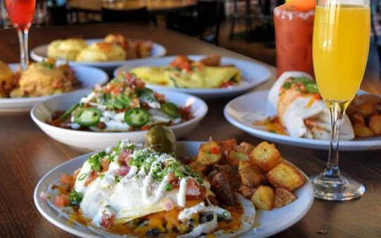 Brunch dishes at Thirsty Lion Gastropub and Grill.