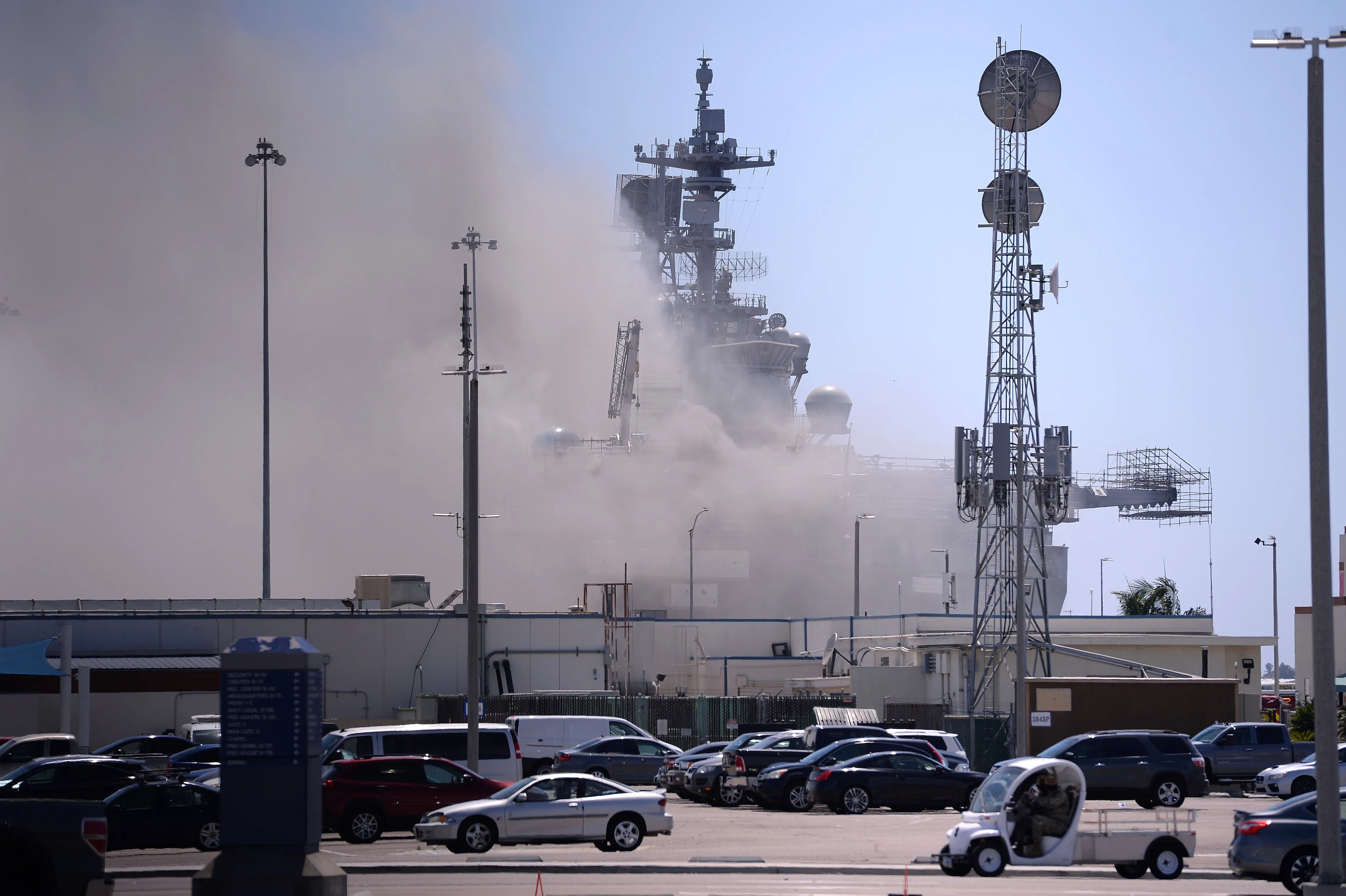 Fire Extinguished On Navy S Bonhomme Richard After Four Days