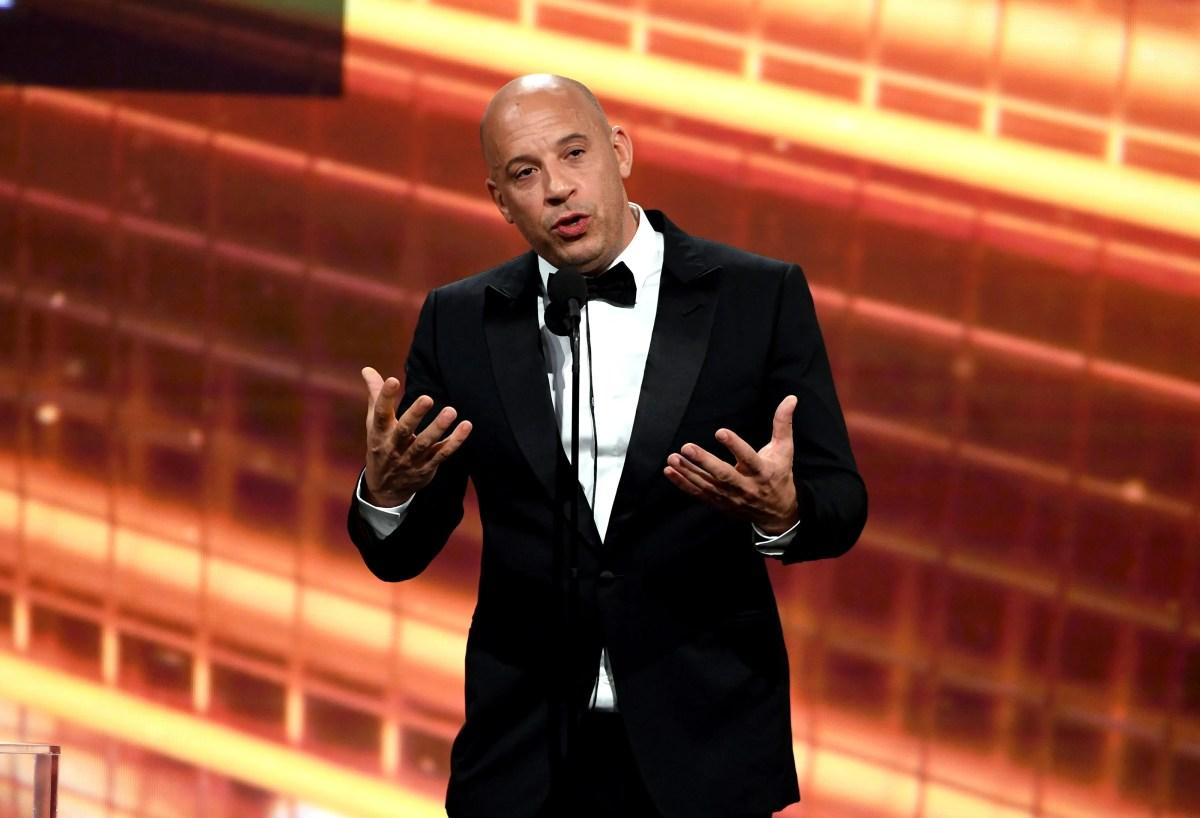 Diesel speaks onstage during the 2019 British Academy Britannia Awards.