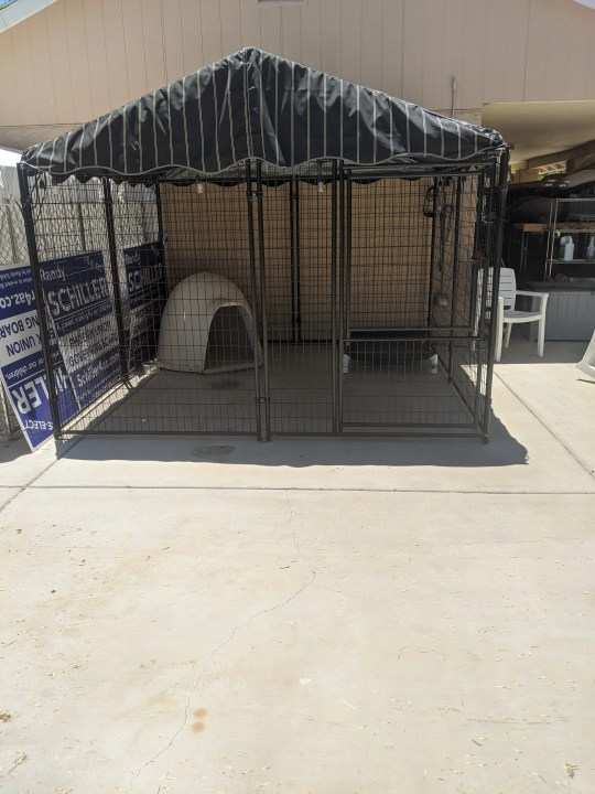 Multiple Animal Lovers of Laveen members have animal holding facilities on their properties, such as the one pictured.