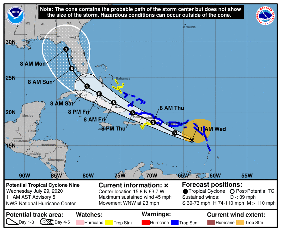 Tropical Storm Weather Forecast Florida Isaias Could Hit