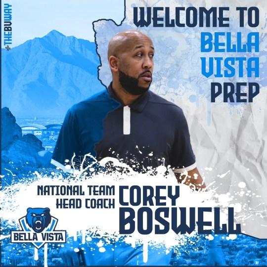 Corey Boswell is named Bella Vista Prep basketball coach. Bella Vista