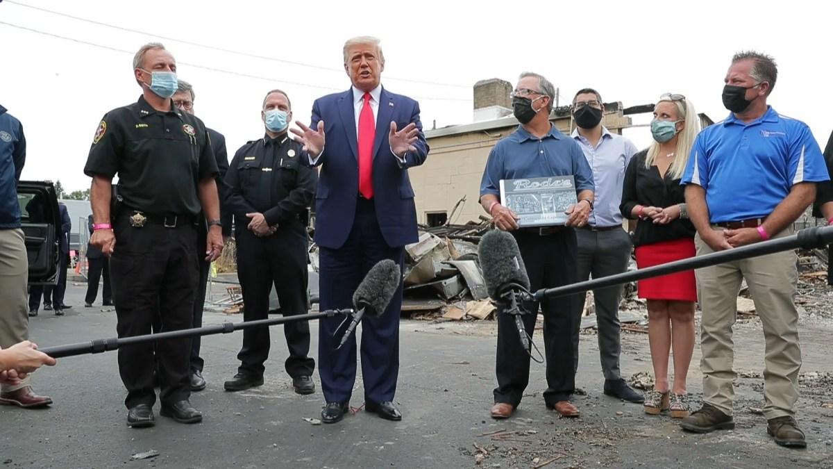 Trump in Kenosha: Owners of destroyed store refused to meet Trump