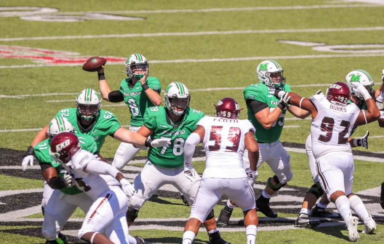 Marshall QB Grant Wells has dazzling debut in rout of Eastern Kentucky