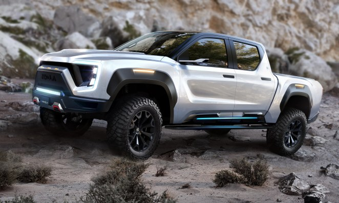 Rendering of the Nikola Badger electric pickup, which GM will help engineer as part of a partnership with Nikola Corp. announced Tuesday.