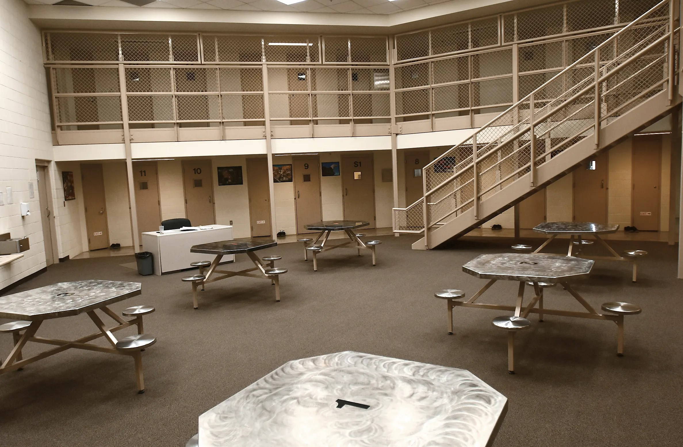 One of the pods at the Portage-Geauga Juvenile Justice Center.