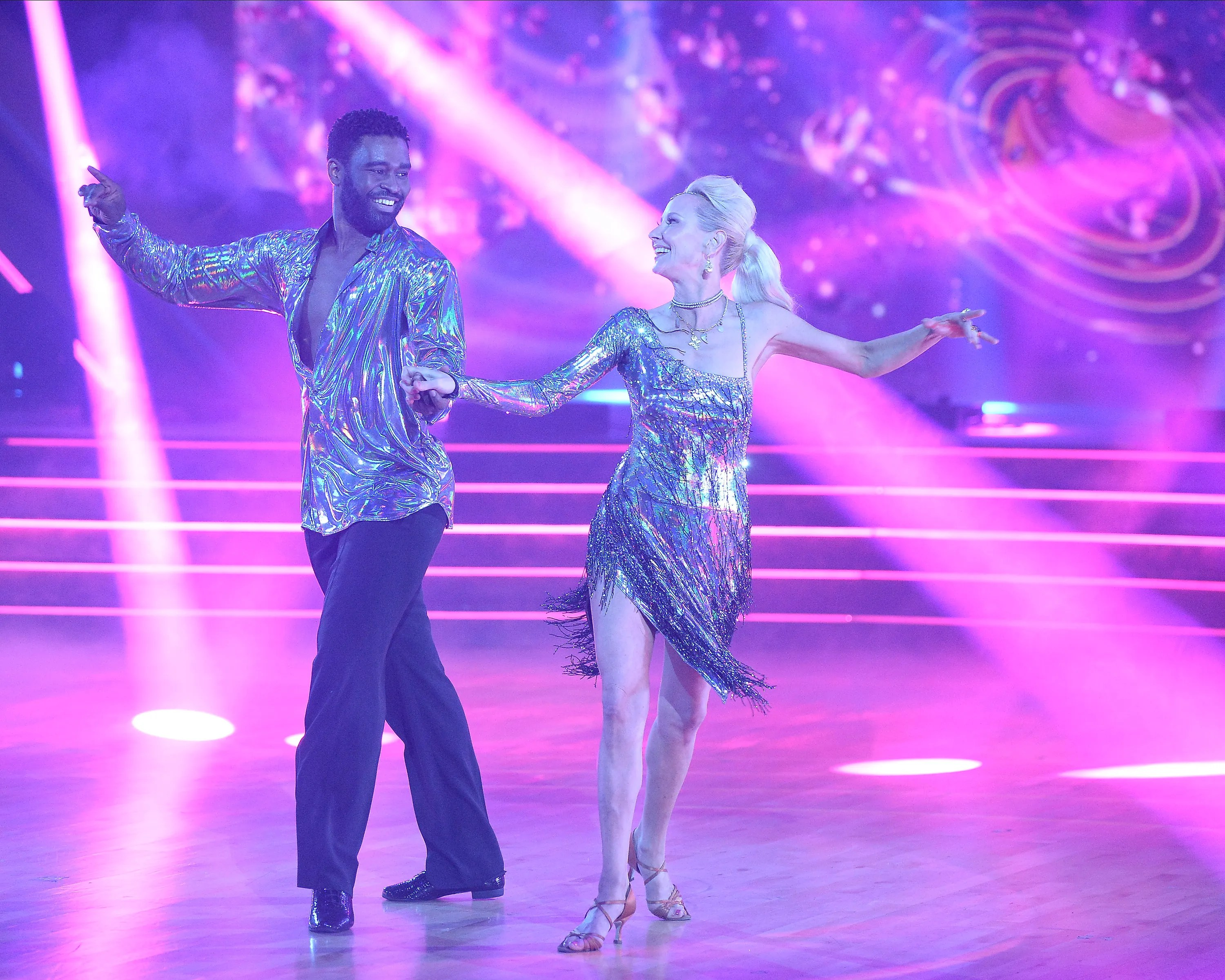 Keo Motsepe and Anne Heche worked their dance in Monday night.