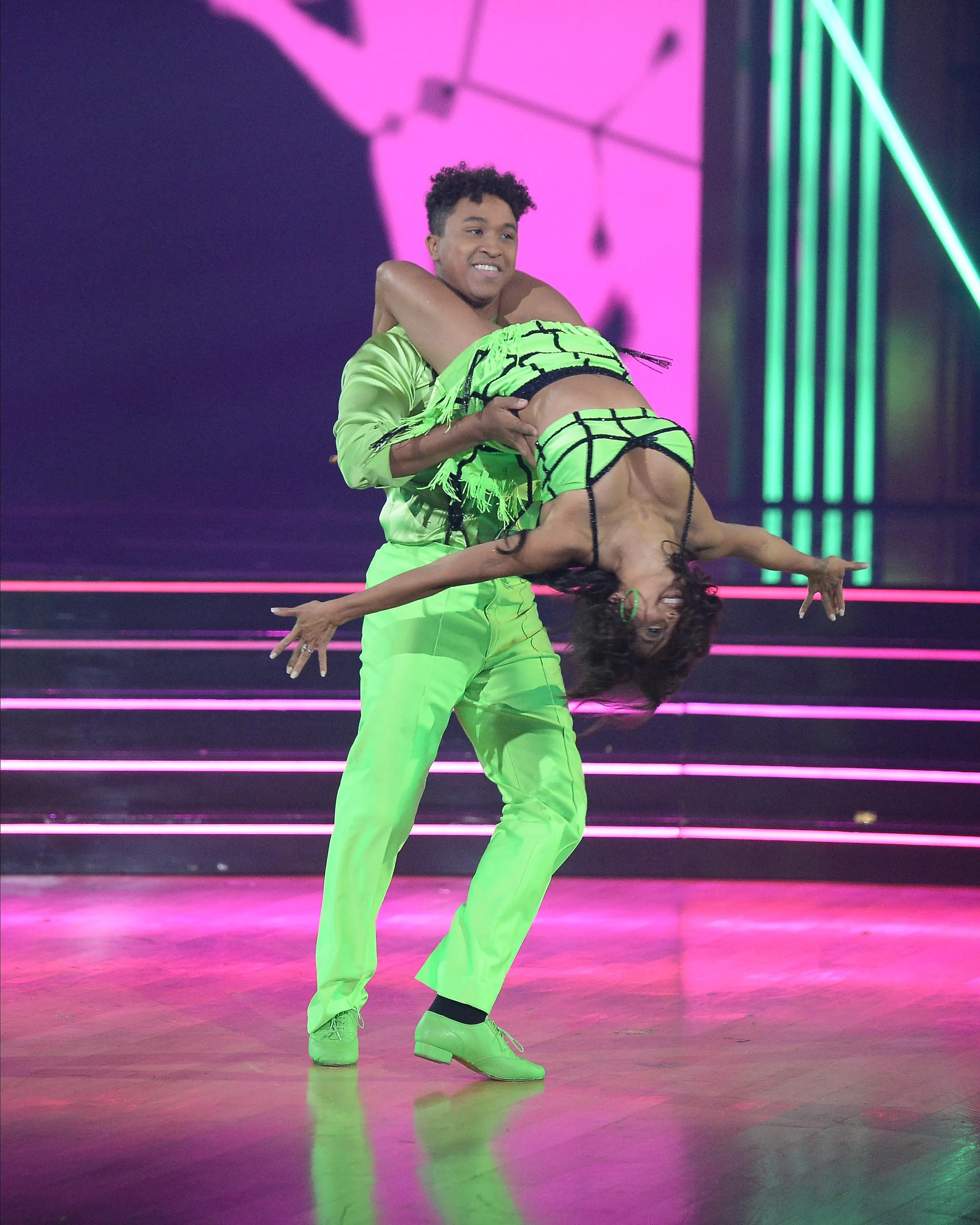 """Brandon Armstrong and Jeannie Mai show off serious moves in week one of """"Dancing With the Stars."""""""