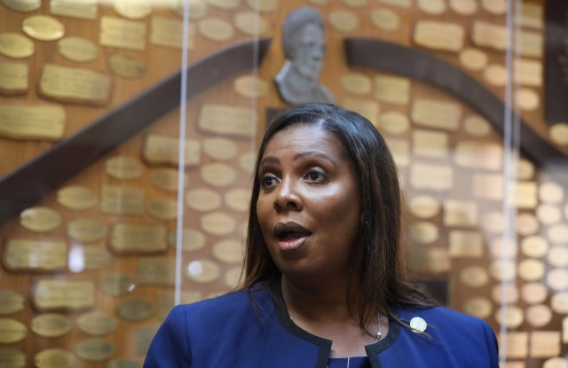 New York Attorney General Letitia James talks about the ongoing investigation into the death of Daniel Prude during a press conference held at the Aenon Missionary Baptist Church on Genesee Street in Rochester Sunday, Sept. 20, 2020.