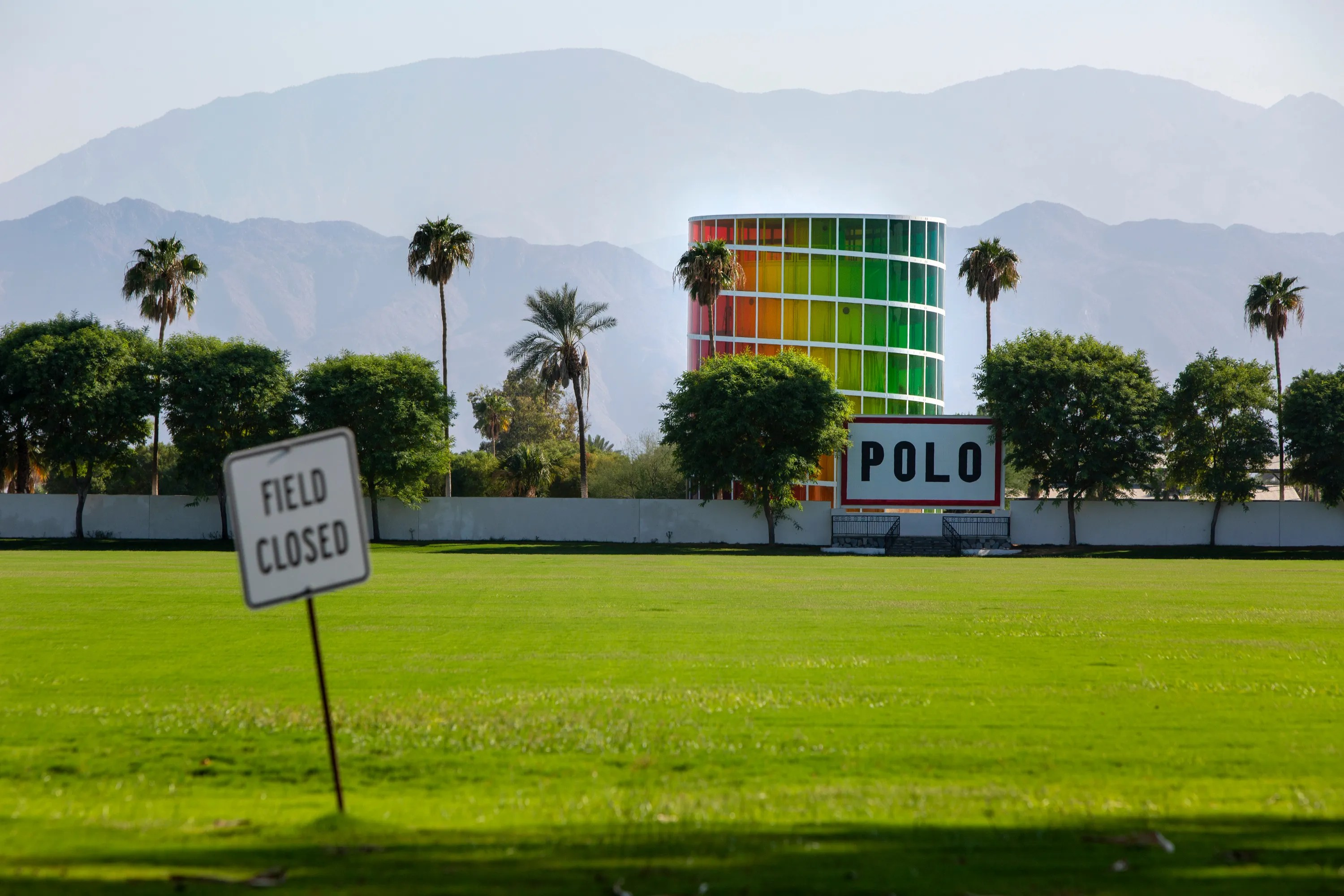Hotel bookings dropped significantly due to the cancellation of festivals amid the coronavirus pandemic. The popular Coachella Valley Music and Arts Festival is held at the Empire Polo Club as seen here on October 7, 2020.