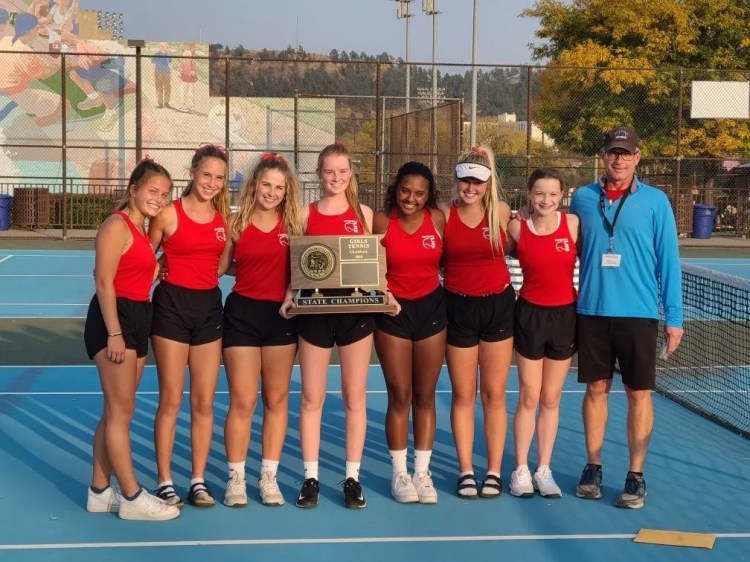 Lincoln's women's tennis team won their fifth consecutive state championship this week in Rapid City.