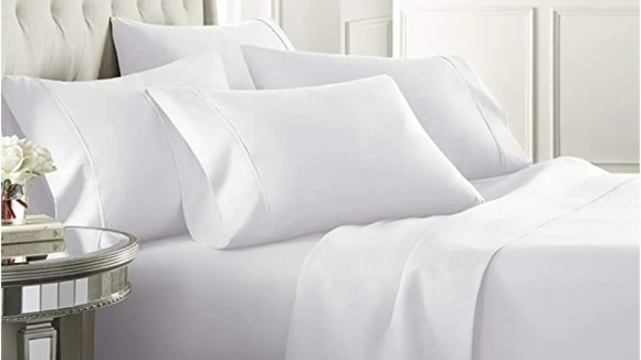 Snuggle up with highly-rated sheets, pillows and comforters.