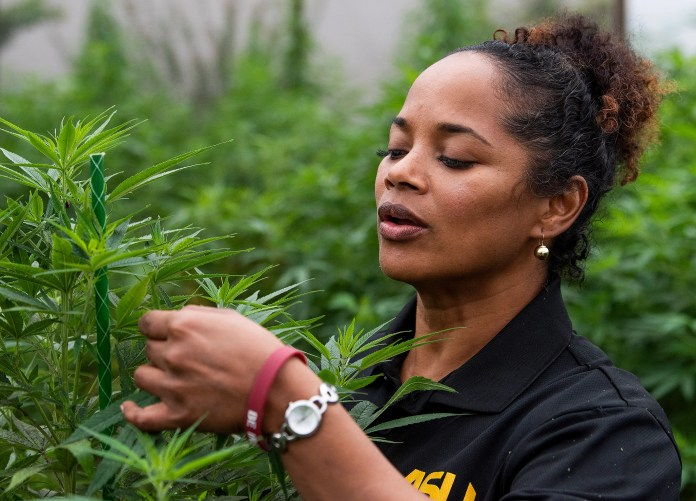 Alabama State University professor Michelle Samuel-Foo at the Alabama State University teaching and research garden on the ASU campus in Montgomery, Ala., on Friday October 16, 2020.