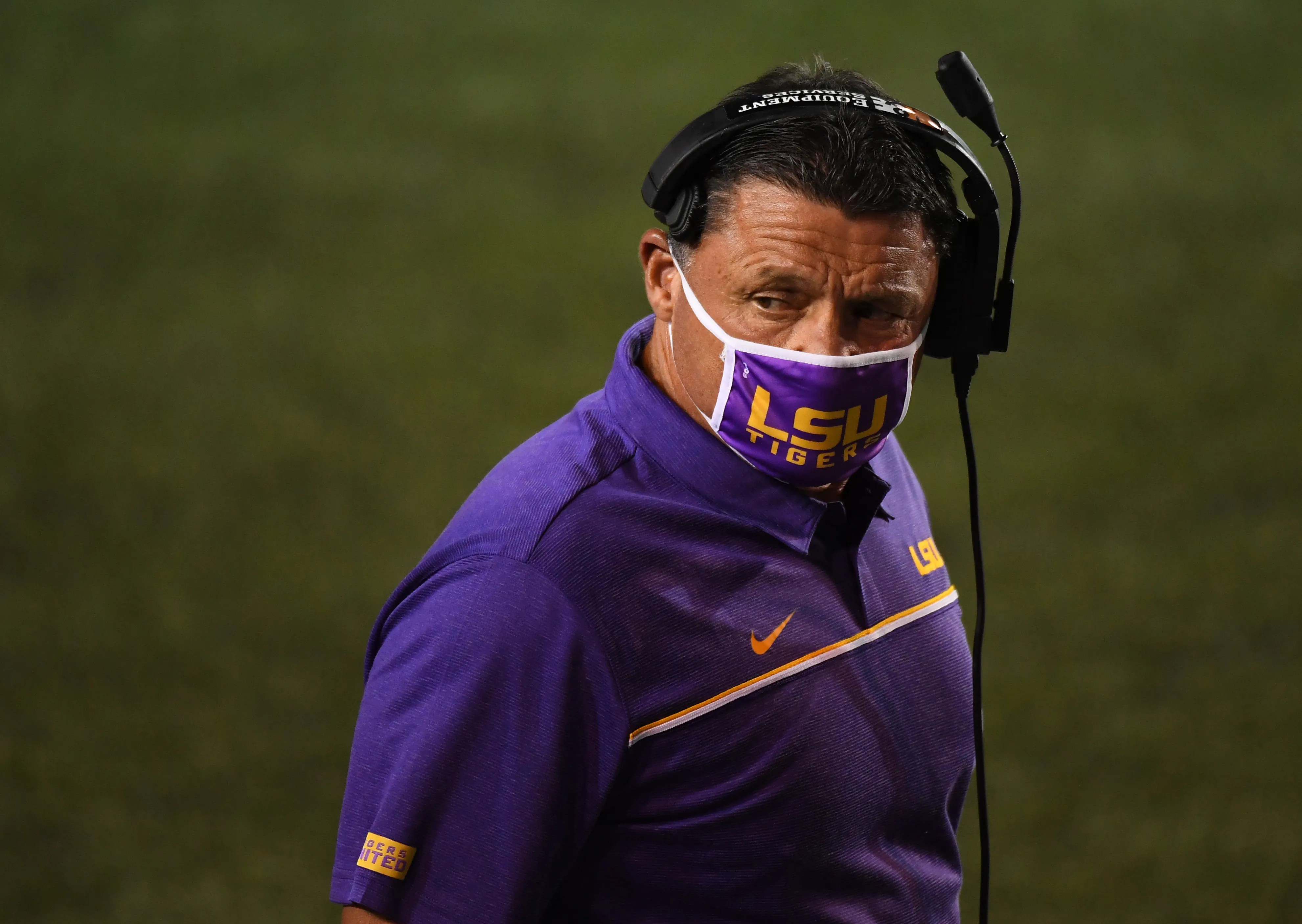 LSU head coach Ed Orgeron is taking a voluntary salary reduction in 2021.