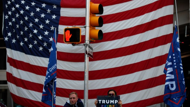 0d906958 b919 4cf4 bccc ab1824a52905 AP Election 2020 Protests Philadelphia Trump campaign's challenge of election results in Pennsylvania, Michigan and Arizona push US toward 'loss of democracy'