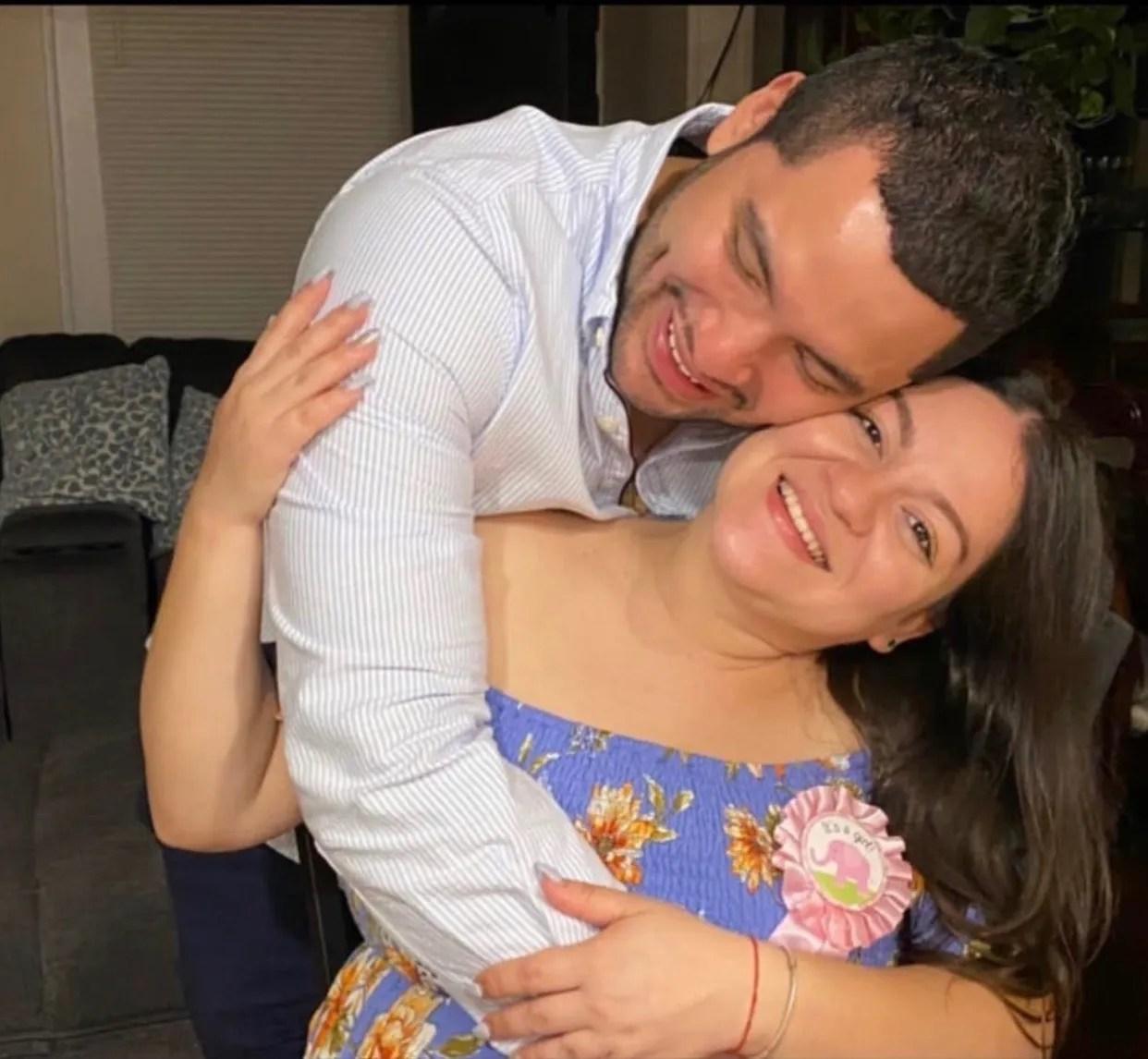 Eduardo Argueta and Estefania Mesa, before she gave birth in July
