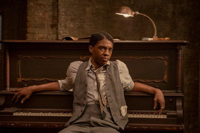 "Chadwick Boseman plays a self-centered cornet player who has designs for having his own band in ""Ma Rainey's Black Bottom."""