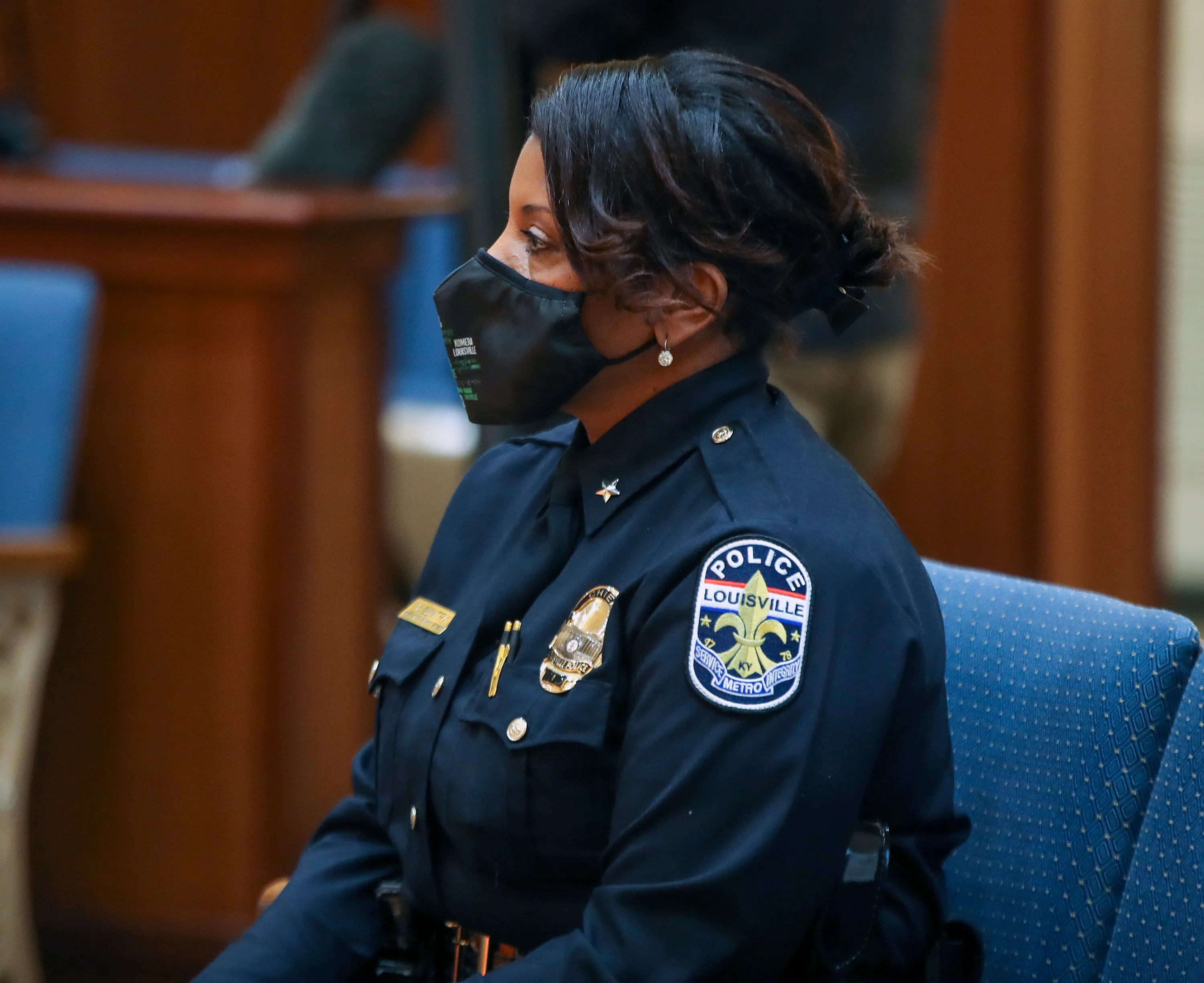 Interim Police Chief Yvette Gentry defended the police officer who was shot by Breonna Taylor's boyfriend.