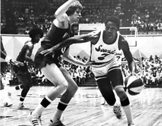 George Carter, right, was one of the greats of the ABA. He averaged more than 18 points and nearly 7 rebounds per game between 1967 and 1976.