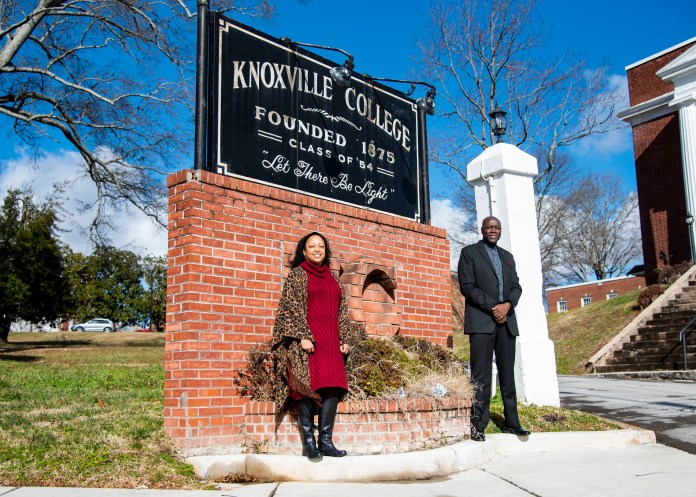 Knoxville College Chief Operating Officer Dasha Lundy and President Leonard Adams are working to secure funding for the school.