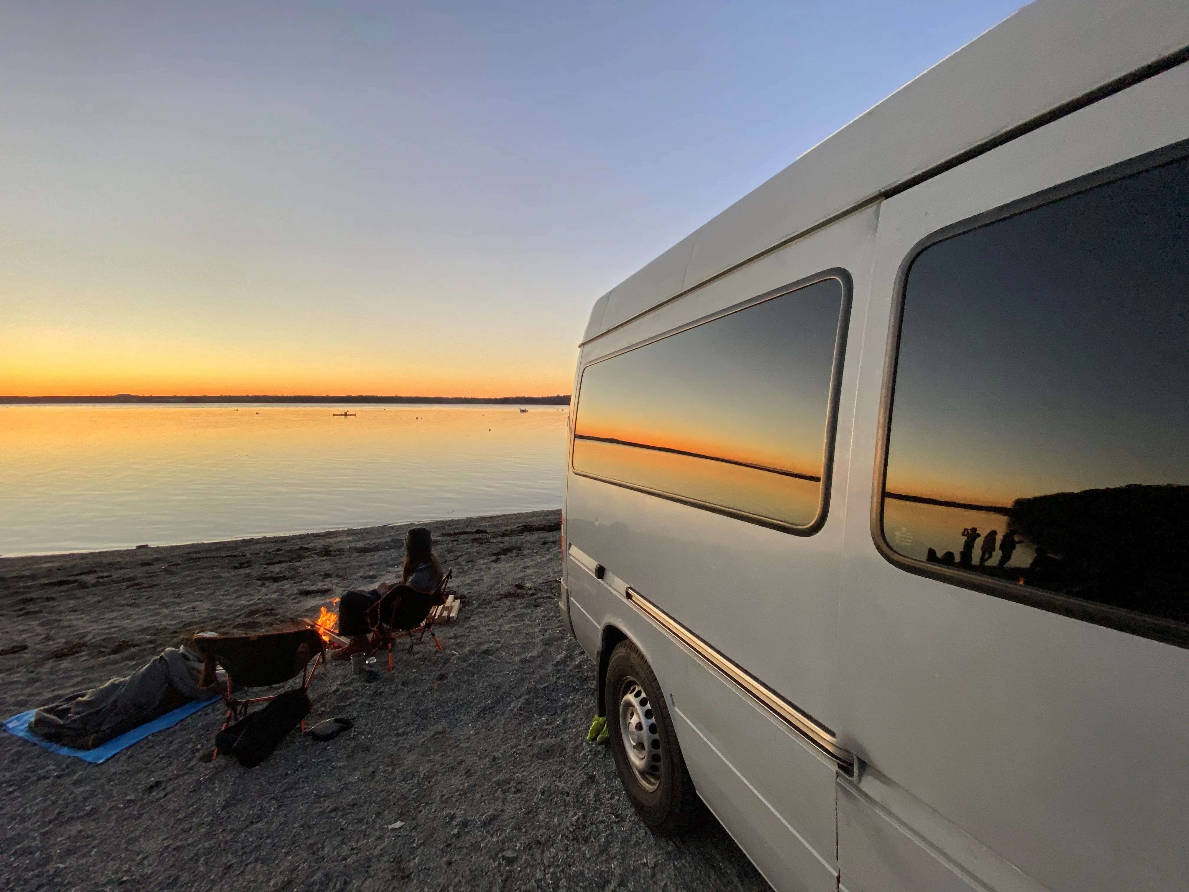 During the COVID-19 pandemic, Corey and JennaLynn Self upgraded a used Mercedes-Benz Freightliner Sprinter van into a vehicle fit for life on the road. They've since left their apartment in Washington, D.C. to work remotely from their van in destinations throughout the country, showcasing their adventures on Instagram @drivingourselfs.