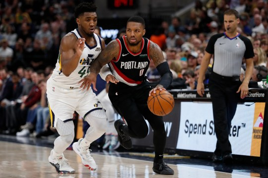 Damian Lillard (0) and Donovan Mitchell (45) are likely shoo-ins to make the All-Star team as reserves.