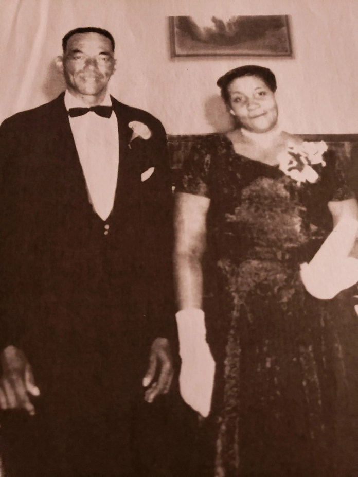 Fred and Ruth Moore were Lewis Oats Jr.'s maternal grandparents. They aided residents of the Sunburst Logging Camp during the 1918 flu pandemic and later ran Fred Moore's Drive-in in Waynesville.